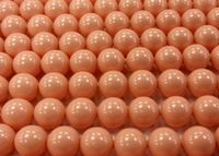 6mm SWAROVSKI® ELEMENTS Pink Coral Crystal Pearl Beads - 50 pearls for jewellery making, beadwork and craft